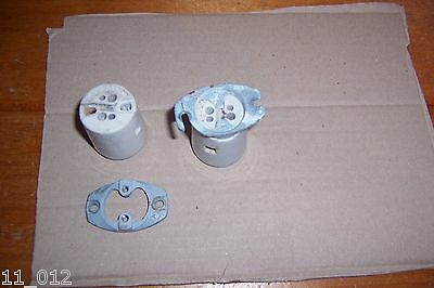 Vintage original Coughtrie PLH2 ceramic bulb holders used see details