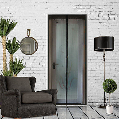 Hands Free Screen Net Door with magnet Anti Mosquito Bug Curtain black USA