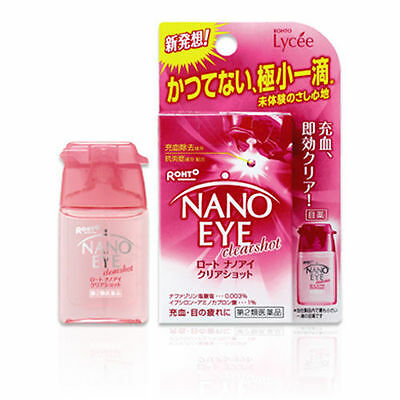 [2/4/8pcs] Rohto Lycee NANO EYE Clear Shot eye drops Medicated 6ml from Japan