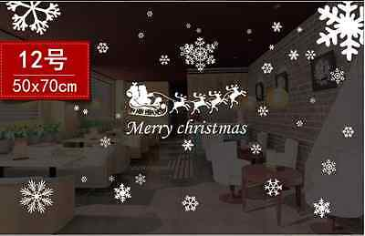 Christmas Wall Stickers Wall Decal Removable Art Window Wall Decor