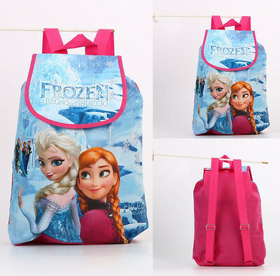 Frozen Princess Elsa Swimming Clothes Toy Drawstring Storage Bag Kids Backpack