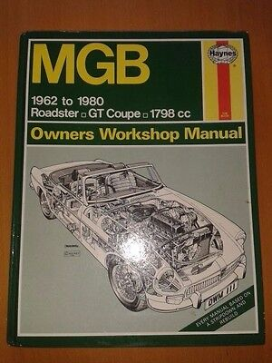 Haynes Manual (111) - MGB Roadster GT Coupe 1962 - 1980