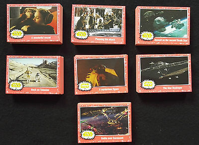 Topps Star Wars Journey Force Awakens Lot 171 Lightsaber Neon Red Starfield Card
