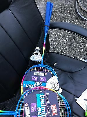 Childrens Two Players Badminton Sports Set - Rackets & Shuttlecocks Ty9782