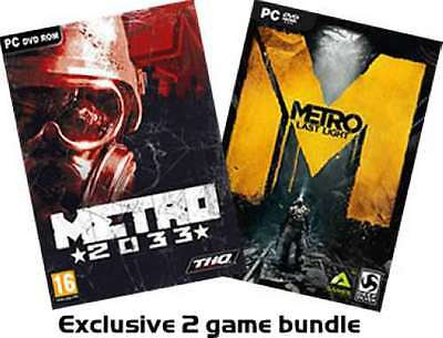 Metro 2033 PLUS Metro Last Light Exclusive 2 game bundle - PC DVD - New & Sealed