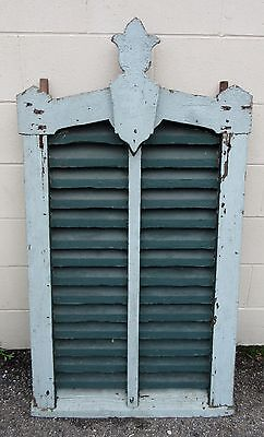 Large Decorative Wood Barn Vent Original Paint Architectural Salvage