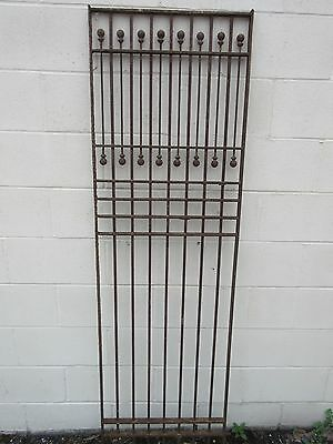 "Antique Cast Iron Panel Grille 71""H"