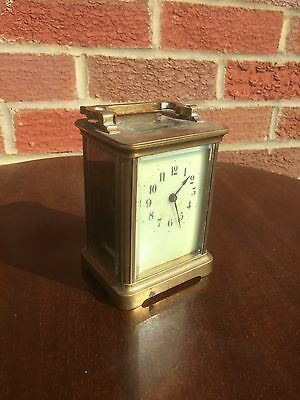 Antique French Brass Carriage Clock. Open To Offers.