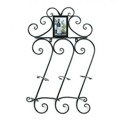 Home Locomotion Wrought Iron Wine Wall Rack