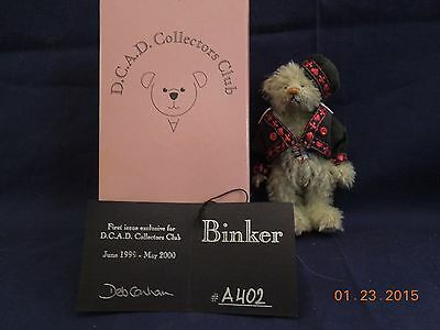 Deb Canham Collectors Club First Issue Miniature Binker 1999-2000 LE 3.5 in