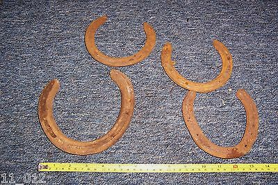 Vintage blacksmith/farrier made metal horseshoe decor feature period film prop