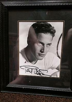 SIGNED FRAMED Paul Newman 8x10 Hollywood Legend Autographed