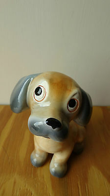 Spaniel Figurine Sitting  Made in Italy 11cm (4 ¼ inches) High Ceramic/Pottery