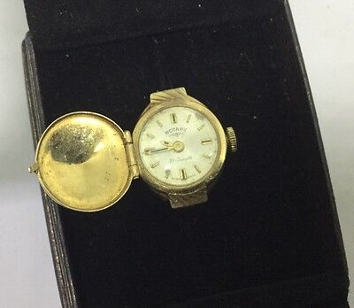 Vintage Lovely Ladies 9ct Gold Rotary Ring Watch