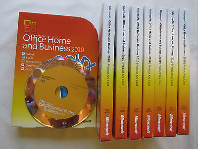 Microsoft Office 2010 Home and Business FULL RETAIL VERSION T5D-00159 T5D-00295