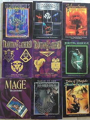 White Wolf Mage Ascension Lot sourcebook guide game horror vampire (9)