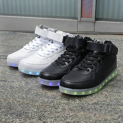 Kid's MID LED Light Lace Up Luminous Shoes Sportswear Sneaker Casual Dance Rave