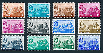 1964 Shakespeare Complete Crown Agents Omnibus Set Mnh