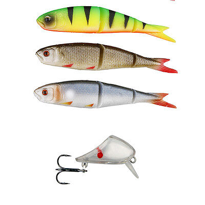 Savage Gear NEW Predator Pike Fishing Perch Zander Soft 4 Play Lip Skull 3+1 Kit