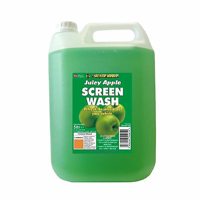 Silverhook APPLE Scent Car Windscreen Screen Wash Concentrate Cleaner 5L