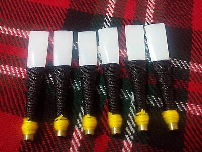 New Scottish Bagpipe Practice Chanter Synthetic Reed/Practice Chanter Reeds 6pcs
