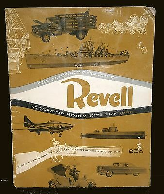 The Complete Catalog of Revell Authentic Hobby Kits for 1956 - VGUC