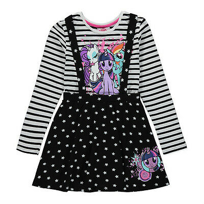 George Girls Official My Little Pony Pinafore Dress Top Set