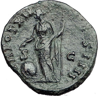 ANTONINUS PIUS Rome Dupondius Authentic Ancient Roman Coin PROVIDENTIA i57887