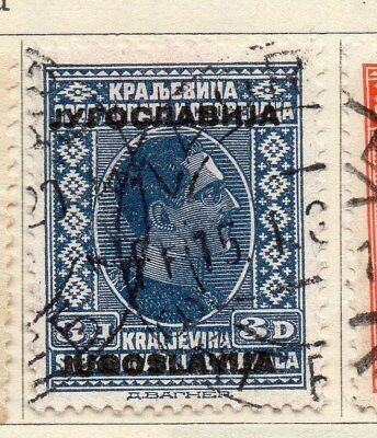 Jugoslavia 1933 Early Issue Fine Used 3d. Optd 106061