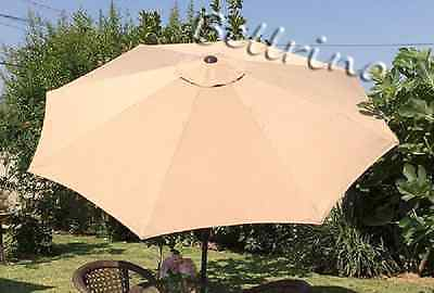 """BELLRINO DECOR Replacement SAND / TAN  STRONG & THICK """" Umbrella Canopy for 10ft"""
