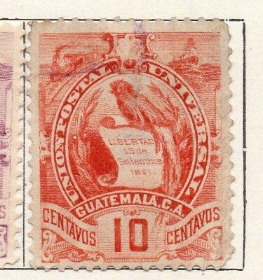 Guatemala 1886-94 Early Issue Fine Used 10c. 107929