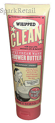 Soap and Glory WHIPPED CLEAN Luxe Cream Wash Moisturising Shower Butter 250ml