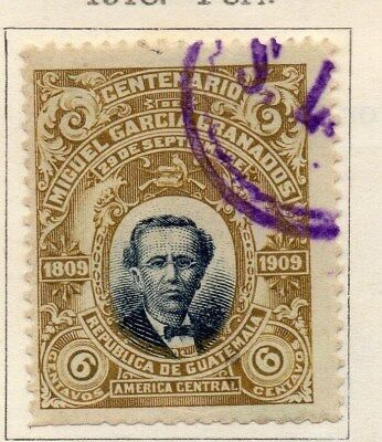 Guatemala 1910 Early Issue Fine Used 6c. 108045