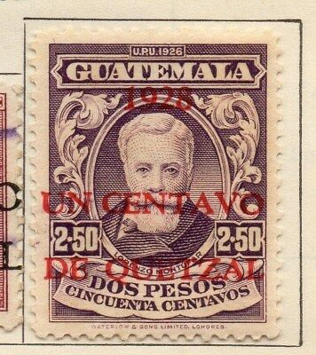 Guatemala 1929 Early Issue Fine Mint Hinged 1c. Surcharged 108067