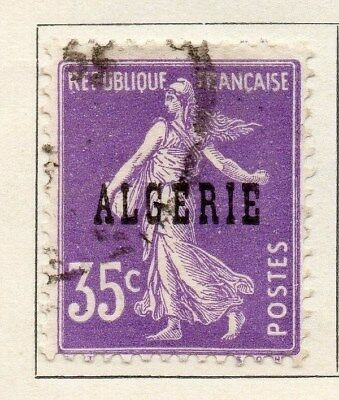 Algeria 1924-26 Early Issue Fine Used 35c. Optd 106856