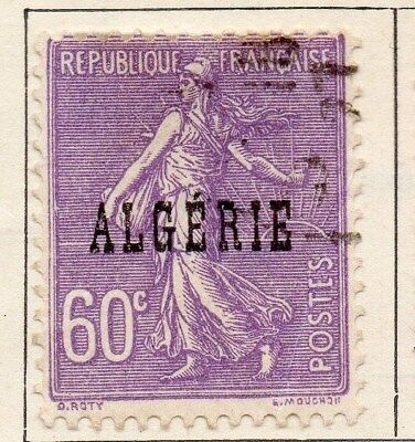 Algeria 1924-26 Early Issue Fine Used 60c. Optd 106860