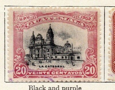 Guatemala 1902 Early Issue Fine Used 20c. 106906