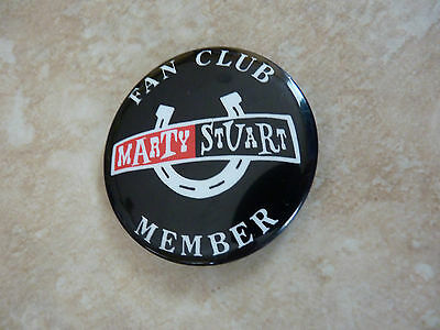 """Marty Stuart Country Music Fan Club Member Round 2.25"""" Pin Button"""