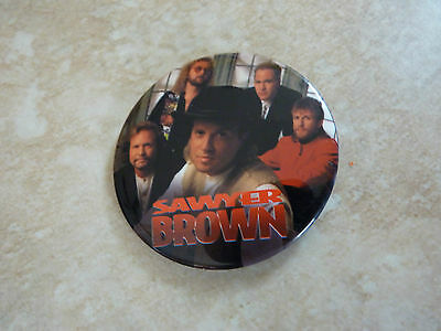 """Sawyer Brown Country Music Fan Club Member Round 2.25"""" Pin Button"""