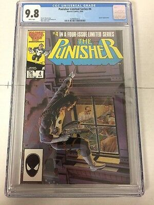 Punisher 4 Cgc 9.8 White Pages Limited Series