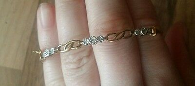9 carat gold and diamond bangle