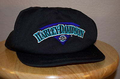Harley Davidson Black Adjustable Hat
