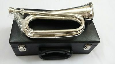Professional Silver plated, Tuneable Bugle with Mouthpiece/Bb Tuneable bugle