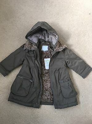 Gorgeous Girls Vertbaudet hooded parka/ Coat size 3 Years BNWT