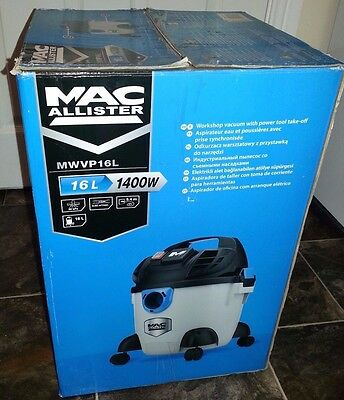 Mac Allister Macallister MWVP16L 16 litre 1400w wet and dry vacuum cleaner