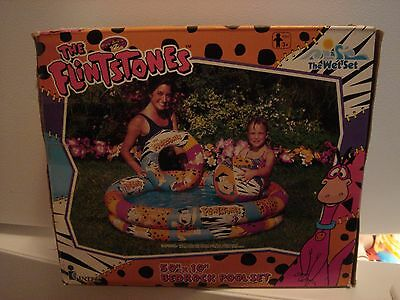 "Vintage Toy Fred Flintstones Bedrock Pool Set 50"" x 10"" Hanna Barbera UNUSED"