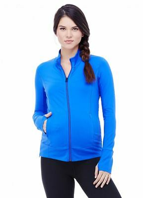 New Ingrid & Isabel Maternity Long Sleeve Active Track Side Zip Jacket S 4 6