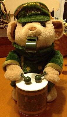Harrods Drummer/ Whistle Animated Plush Bear (Works)