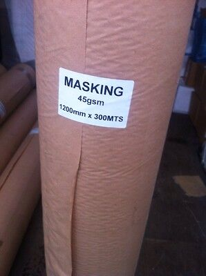 Masking Paper 1200Mm X 300Metres 45Gsm High Quality