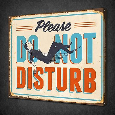 Do Not Disturb Sign Vintage Retro Canvas Wall Art Picture Print Ready To Hang